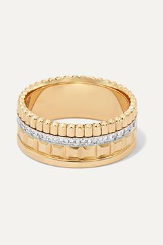 Boucheron - Quatre Radiant Edition Small Rose And White Gold Diamond Ring - Rose gold Rose Gold Diamond Ring, Round Cut Diamond, White Gold Diamonds, Fine Jewelry, Wedding Rings, Engagement Rings, Weights, Switzerland, Christmas Ideas