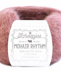 Mohair Rhythm Samenstelling: 70% Mohair 30% Micro Gewicht: ca. 25 g Looplengte: ca. 200 m Stekenverhouding: 28 steken x 32 naalden = 10 x 10 cm Naalddikte: 2,0 mm