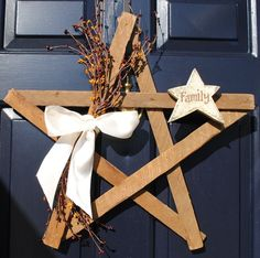 star wreath paint stirrers