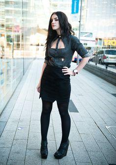 Stephanie of FAIIINT / 'Cut Out' - DIY Shirt & Skirt