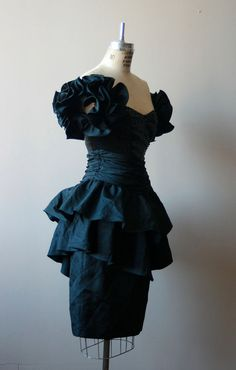 1980s Vintage Black SEQUIN PARTY Dress  S by urbandames on Etsy, $59.00