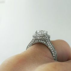 So much sparkle on this engagement ring! #inlove