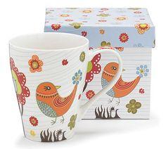 Whimsical Bird Mug- cute