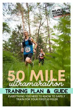 50 Mile Training Plan, Ultra Marathon Training, Race Training, Training Programs, Running Workouts, Running Tips, Trail Running, Marathon Training For Beginners, Running For Beginners