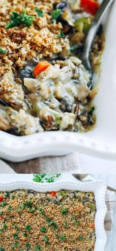 For an easy and delicious dinner, give this Creamy Wild Rice Mushroom Casserole a try!