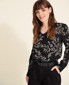 Blusa estampado de flores Boutique, Floral Tops, Long Sleeve, Sleeves, Women, Fashion, Blouse, Clothing, Moda