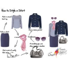 how to style a skirt casual