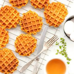 Gluten-free pumpkin waffles that go so well with a drizzle of honey and a bit of whipped cream. A fantastic way to start off your morning!