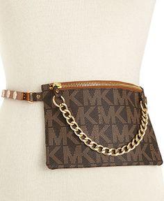 MICHAEL Michael Kors Belt, MK Logo Leather Belt Bag - Belts - Handbags & Accessories - Macy's