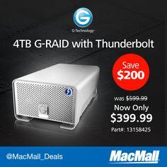 Save $200 on a new #GTechnology 4TB G-RAID with Thunderbolt. #DailyDeal