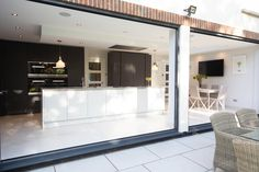 We were delighted to sit down with Sharan Johal, managing director of Vogue Kitchens to learn the secrets of creating an on-trend, monochrome look Living Area, Living Spaces, Ideal Home Show, Rear Extension, Art Deco Home, Cooking Appliances, Neat And Tidy, Al Fresco Dining, Open Plan Kitchen