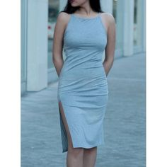 Bow-Knot Dress   #GreyDress #SummerDress #CasualDress #IIVIIFashion