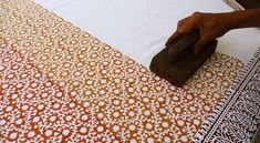 Indian woodblock printing with stamps