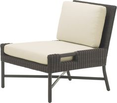 Slipper Chair by Thomas Pheasant - Modern Outdoor Chairs, Outdoor Furniture, Outdoor Decor, White Slippers, Cut Out Design, Seat Cushions, Sun Lounger, Ottoman, Pheasant