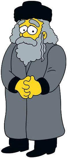 The Simpsons - Rabbi Hyman Krustofsky, long lost father to Krusty the Clown