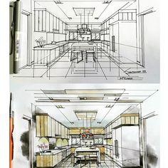 #kitchen #sketch #watercolour #interiordesign