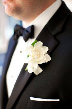 wedding boutonniere idea; photo: Nancy Aidee Photography