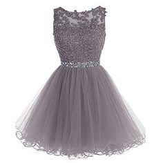 Fabulous Bateau Sleeveless Short Grey Homecoming Dress with Appliques Beading