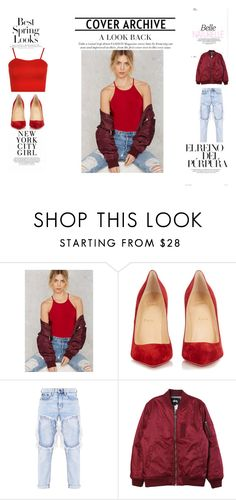 """First Look"" by beautie-swagg on Polyvore featuring Twinkle, H&M, Christian Louboutin, Stussy and WearAll"