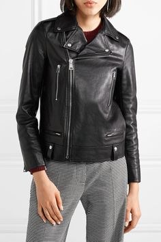 Black leather Asymmetric zip fastening through front 100% leather (Calf); lining: 100% viscose Specialist clean