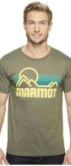 Marmot Marmot Coastal Tee S/S (Olive Heather) Men's Short Sleeve Pullover - Marmot, Marmot Coastal Tee S/S, 51880-4480-317, Apparel Top Short Sleeve Pullover, Short Sleeve Pullover, Top, Apparel, Clothes Clothing, Gift, - Street Fashion And Style Ideas