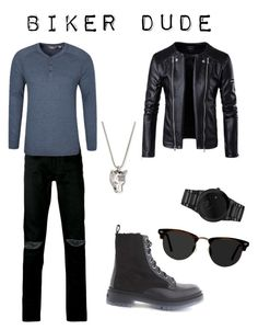 """""""Biker dude"""" by mnewby on Polyvore featuring Yves Saint Laurent, Jimmy Choo, Citizen, Gucci, Ace, men's fashion and menswear"""