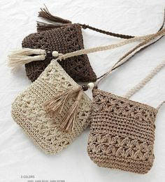crochet woven bag models step by step Crochet Diy, Crochet Tote, Crochet Baby Shoes, Crochet Handbags, Crochet Purses, Love Crochet, Chunky Crochet, Vintage Crochet, Crochet Purse Patterns