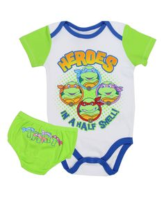 Another great find on #zulily! Ninja Turtles Diaper Cover & Bodysuit Set - Infant by Teenage Mutant Ninja Turtles #zulilyfinds