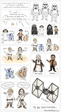 INFOGRAPHIC: Similarities of Star Wars: A New Hope & The Force Awakens