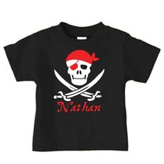 Personalized pirate birthday shor sleeve t-shirt, birthday t shirt for a boys