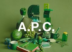 vert - APC women by Coco Capitan Apc, Book Making, Art Direction, Creative, Product Photography, Set Design, Place, Women Accessories, Knowledge