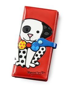 BRITTO Large Red Dalmation Dog Wallet