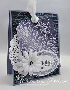 If you like purple, you will love this card! :)  I made this card for StampNation's Inspiration Nation Challenge series. http://catherinepooler.com/2013/08/does-this-inspire-you/  #stampnation