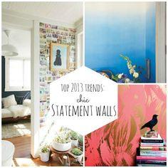 Chic statement walls