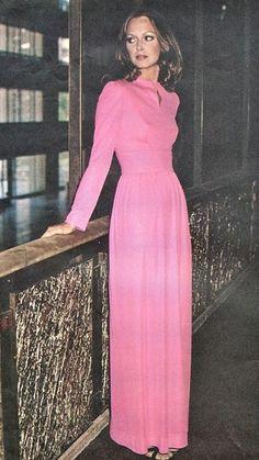 Karen Graham in a pink Pucci dress