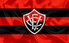 Herunterladen hintergrundbild vitoria fc, brasilianische fußball-club, emblem, logo, brasilianische serie a, fußball, salvador, bahia, seide flagge