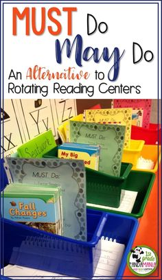 Must Do May Do System INSTEAD of rotating reading centers! So much better! Great… Must Do May Do System INSTEAD of rotating reading centers! So much better! Reading Stations, Guided Reading Groups, Literacy Stations, Reading Centers, Reading Lessons, Literacy Centers, Reading Center Ideas, Reading Resources, Reading Group Activities