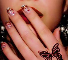 spring-nail-design-2013 Nail Art Cute, Cute Nail Art Designs, Beautiful Nail Art, Cute Nails, French Manicure Nail Designs, Acrylic Nail Designs, Nails Design, Fingernail Designs, French Nails