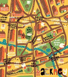 Oivind Hovland - Restaurant map of Hackney for Olive Magazine