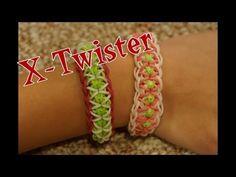 Rainbow Loom X-Twister Bracelet - http://videos.silverjewelry.be/bracelets/rainbow-loom-x-twister-bracelet/