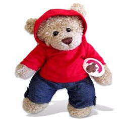 Teddy Bear Clothes fit Build a Bear Red Hoodie Outfit Teddy Clothing Build your bears a new wardrobe of teddies clothes Teddy bear clothes compatible