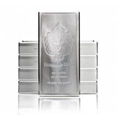 100 oz Scottsdale Stacker Silver Bar .999 Silver Bullion