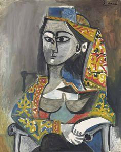 Pablo Picasso  Femme au costume turc dans un fauteuil