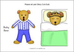 A set of printable cut-out characters and other pictures to accompany the story Peace at Last by Jill Murphy. Use for oral retellings, on classroom displays, story maps and more! Jill Murphy, Peace At Last, Classroom Displays, Retelling, Cut Outs, Teacher Resources, Preschool, Teaching, Fictional Characters