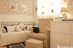 Love the soft colors and polka dots to keep it fun! Baby Bedroom, Baby Boy Rooms, Nursery Neutral, Royal Nursery, Everything Baby, Baby Decor, Girl Room, Decoration, Sweet Home