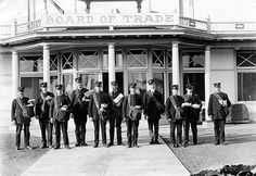 First Letter Carriers In Front Of Board Of Trade Building  1912