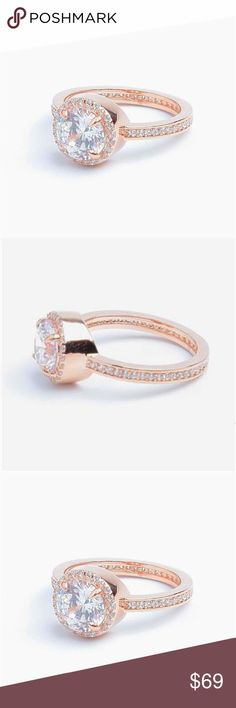 ce7e3e256f34 New Henri Bendel Luxe Crystal Pave Halo Ring 7 New Henri Bendel Luxe  Crystal Pave Halo