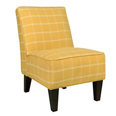 Portfolio Madigan Yellow Square Armless Chair | Overstock.com Shopping - The Best Deals on Living Room Chairs