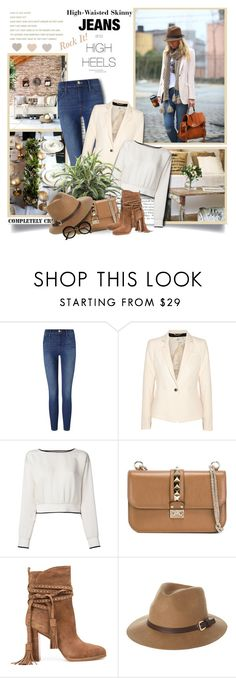 """""""Rock It! High-Waisted Skinny Jeans"""" by thewondersoffashion ❤ liked on Polyvore featuring Truths, Andrea, Frame, DAY Birger et Mikkelsen, Theory, Valentino, Michael Kors, Rusty and H&M"""