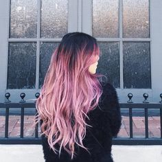 Beautiful Rose Ombre Hair color style, the trend should not miss @marycake